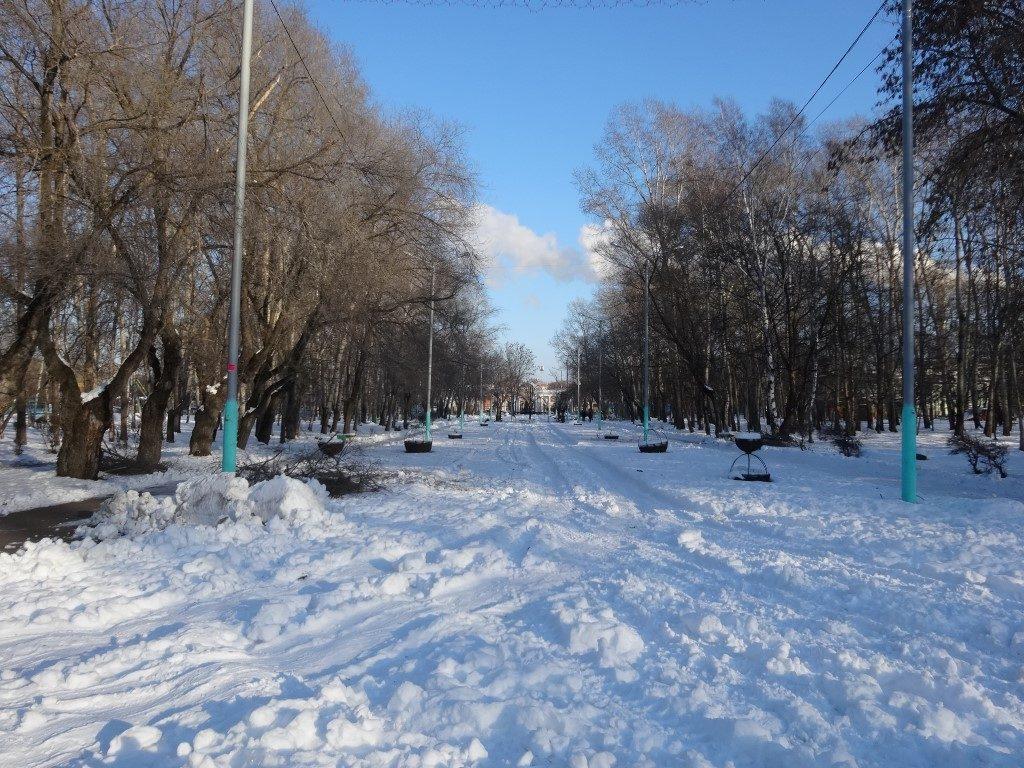 Dans le parc de Komsomolsk