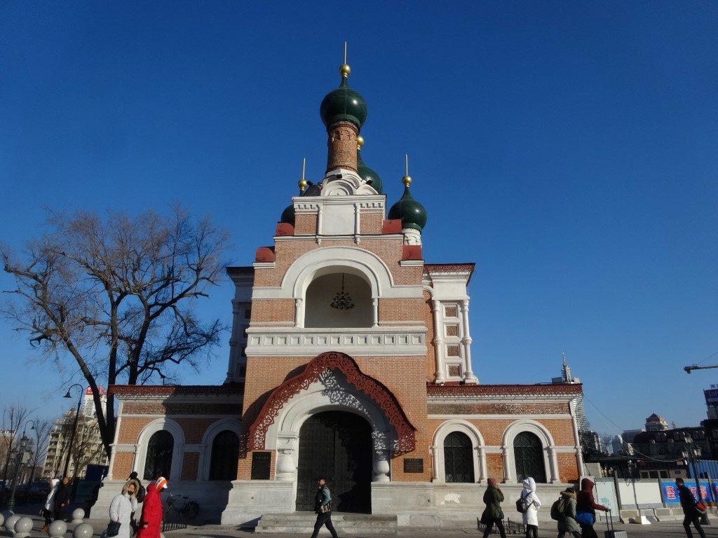Une église orthodoxe à Harbin, où une importante population russe habite