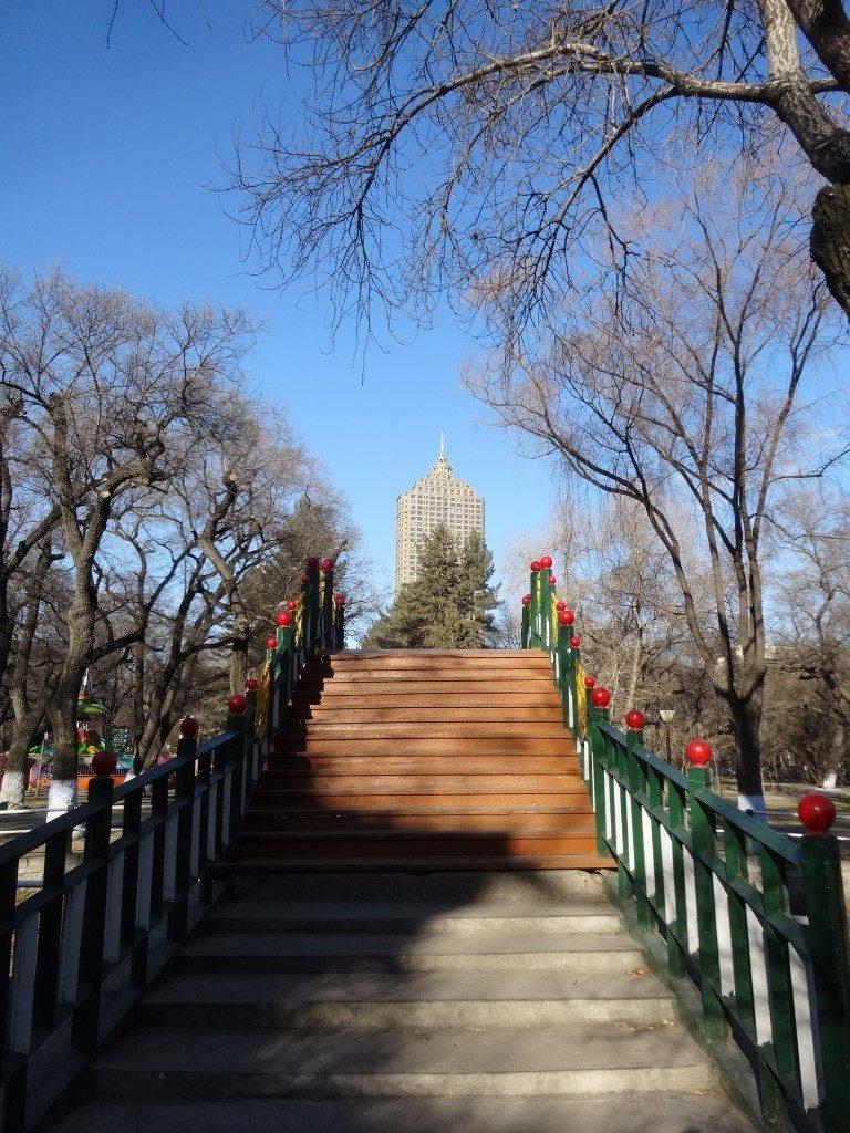 Le Parc Zhaolin en chemin vers la rivière