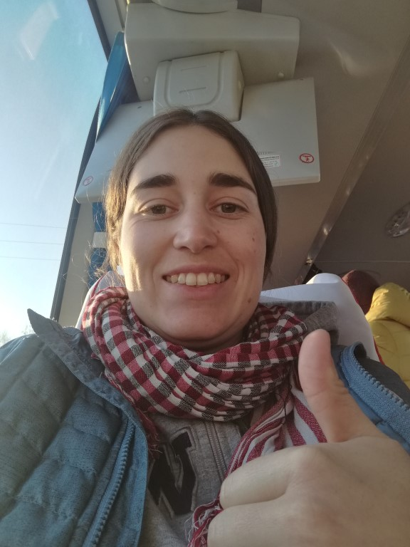 Dans le bus en route pour la Chine