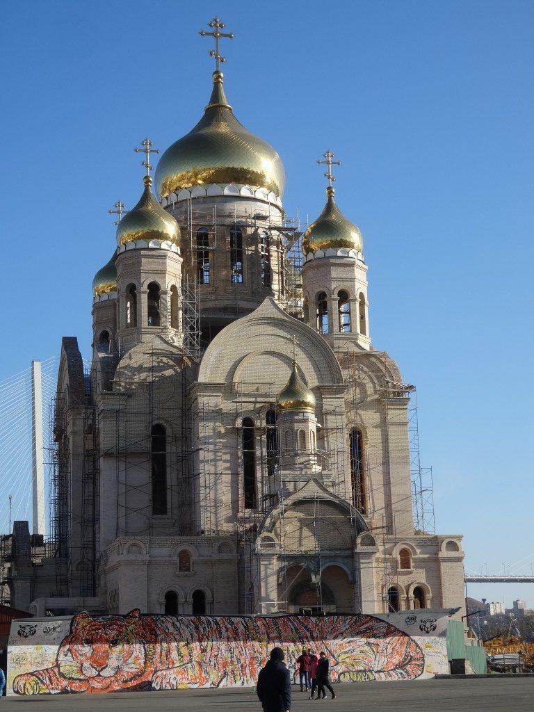 L'église orthodoxe de la place de l'embarcadère à Vladivostok