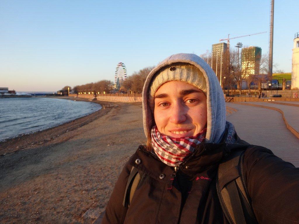 Sur la plage de Vladivostok