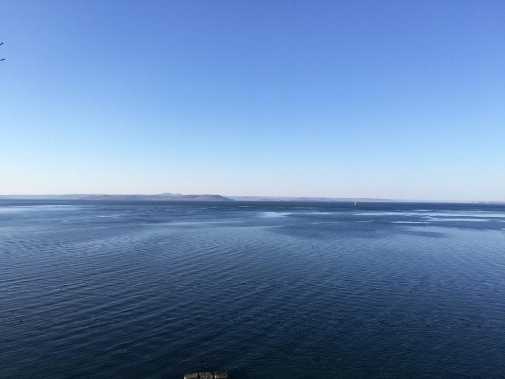 La vue sur la mer du Japon depuis les hauteurs de Vladivostok