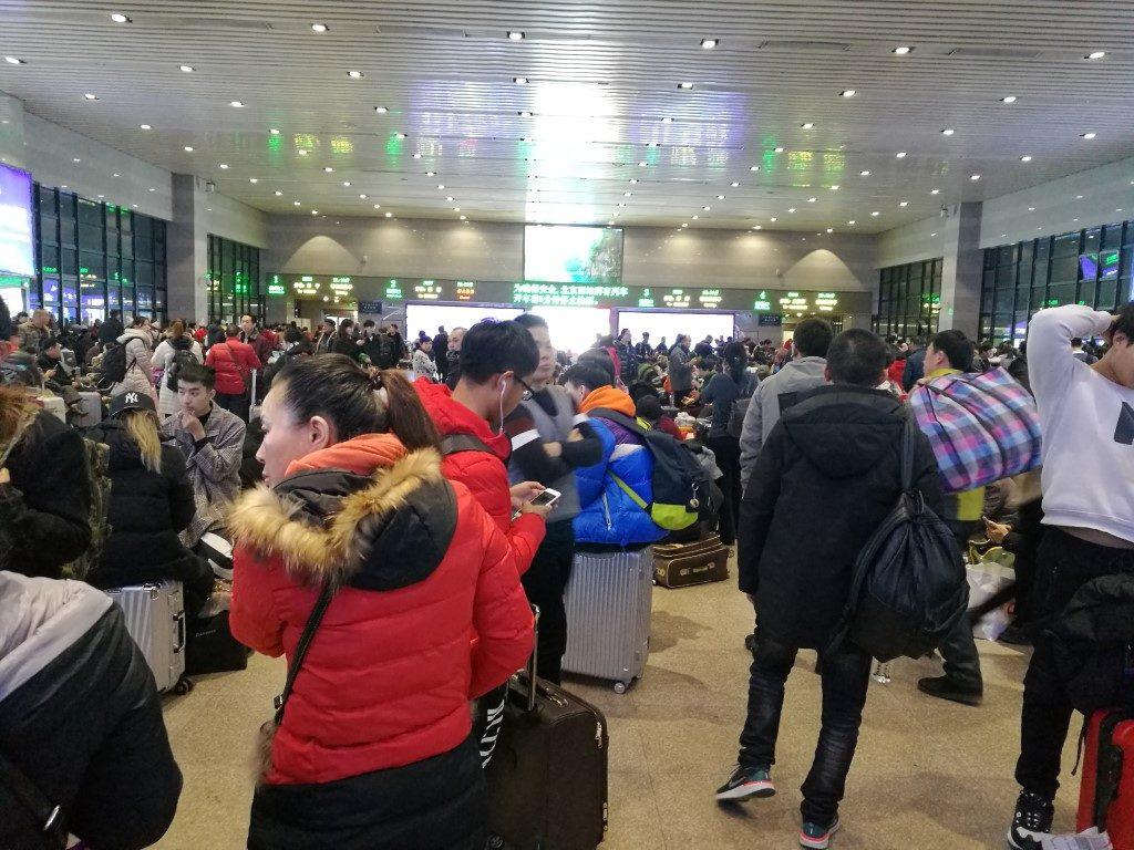 La salle d'embarquement pour le train direction Changsha