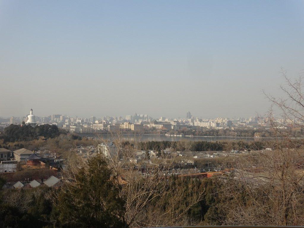 La vue depuis le haut du Parc Jingshan
