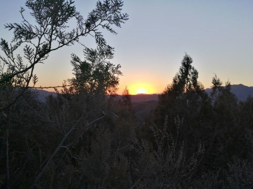 Le coucher de soleil sur la Grande Muraille