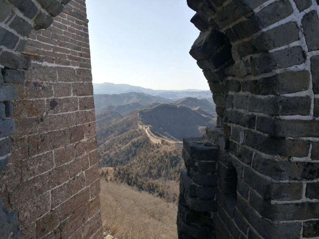 Le paysage depuis une des tours de la Grande Muraille