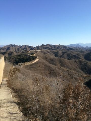 La Grande Muraille qui se déroule à l'horizon, comme un serpent