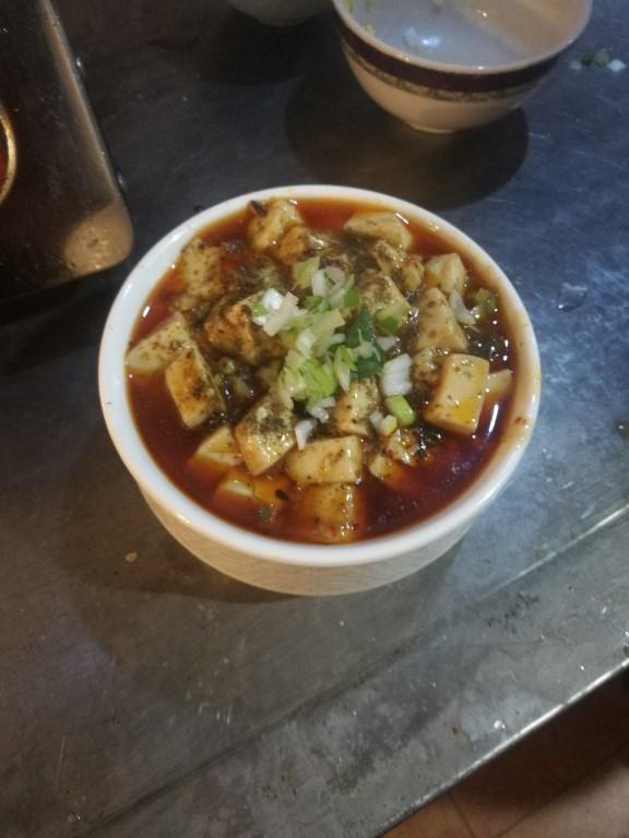 Le mapo tofu prêt à être dégusté