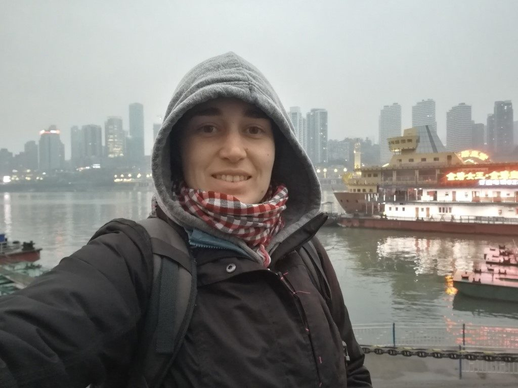 Le port à la pointe de l'île où la rivière Jialing se jette dans le fleuve Yangtze
