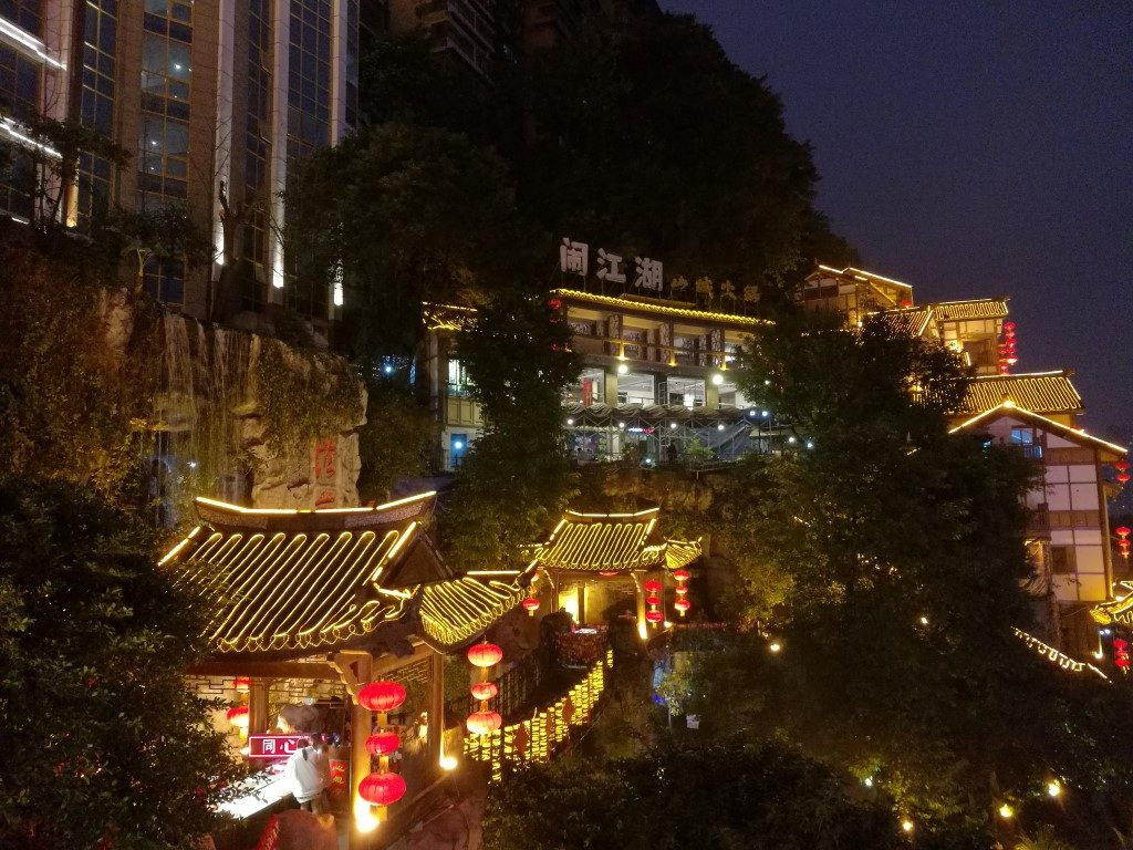 Hongyadong, quartier reconstruit à l'image des habitations traditionnelles qui longeaient la rivière