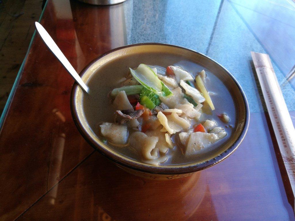 La soupe de nouille tibétaine