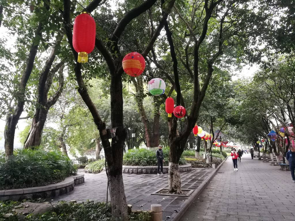 Balade autour du lac dans le centre de Guilin