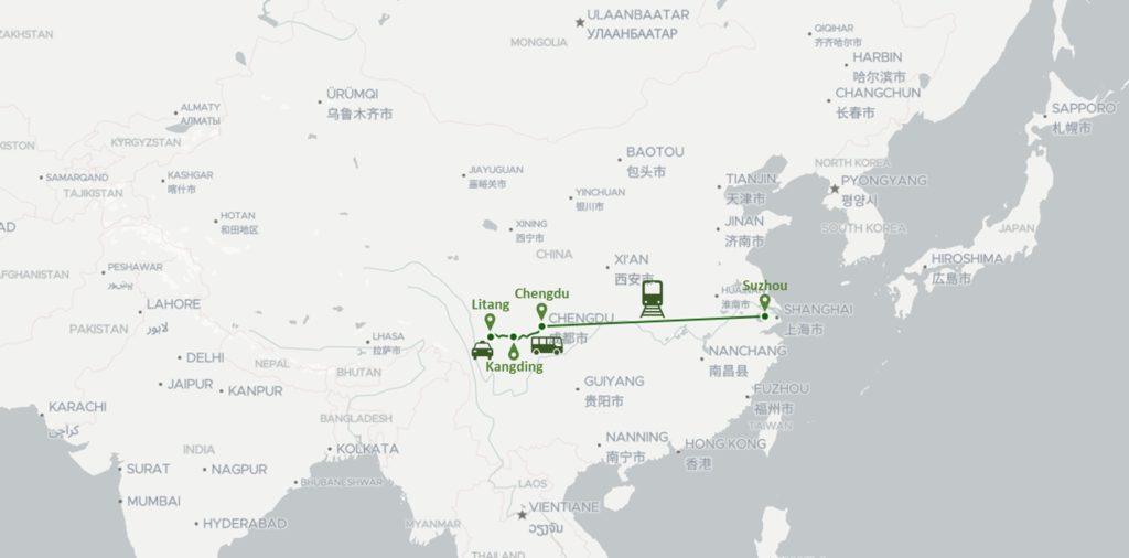 De Litang à Suzhou, la traversée de la Chine en 1 semaine