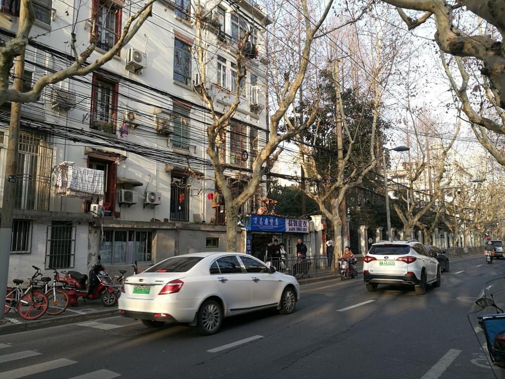 Le quartier de l'ancienne concession française, avec des platanes comme à la maison