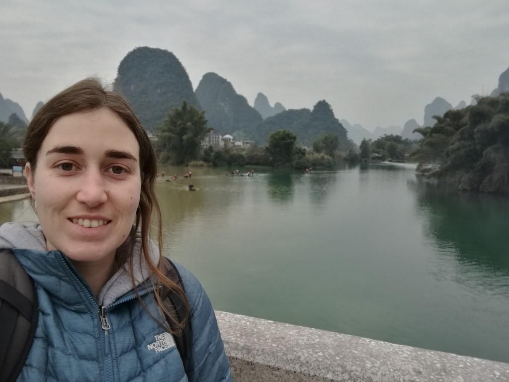 Un des spots avec la vue le long de la rivière Li