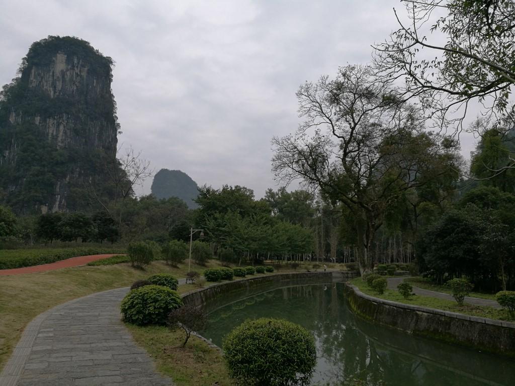 Le parc de Yangshuo, au pied des formations Karstiques aux alentours