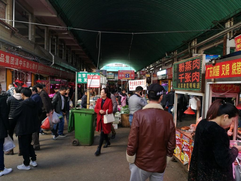 Le marché de Kunming
