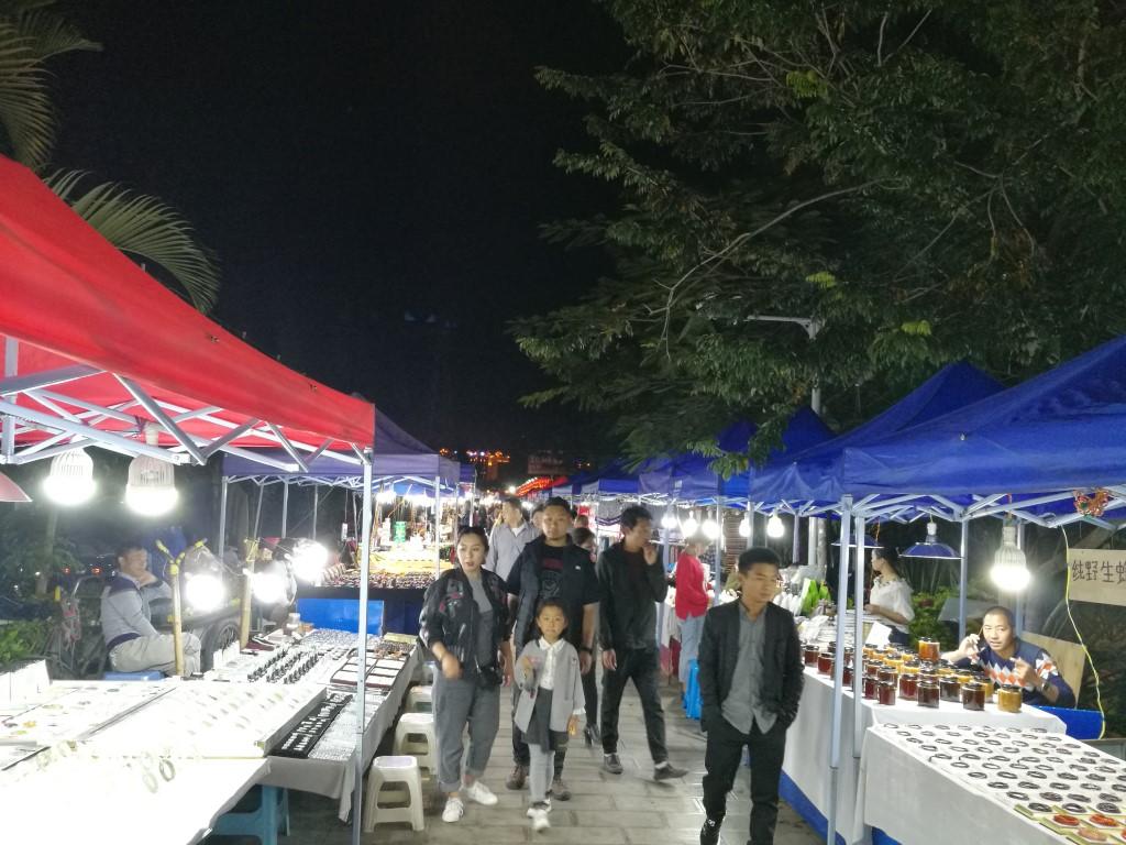Le marché de nuit à Xishuangbanna
