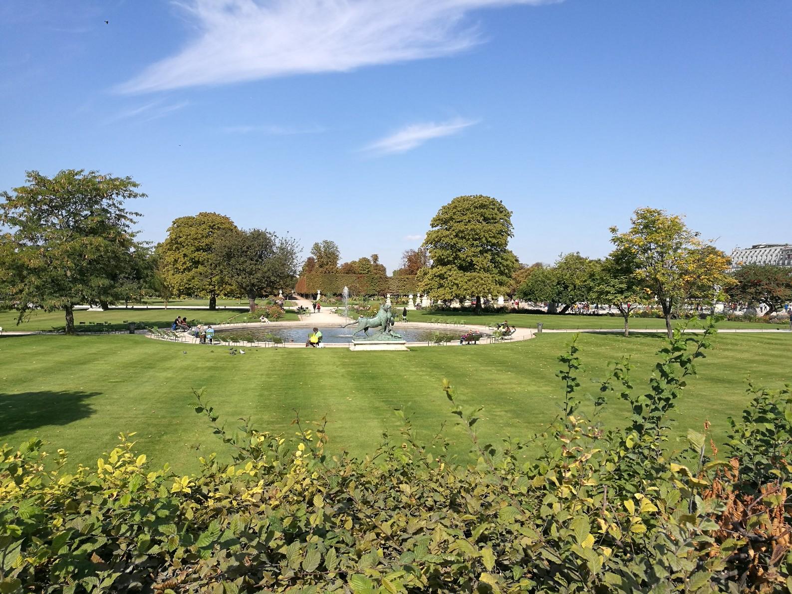 Le jardin des Tuilleries par un bel après-midi