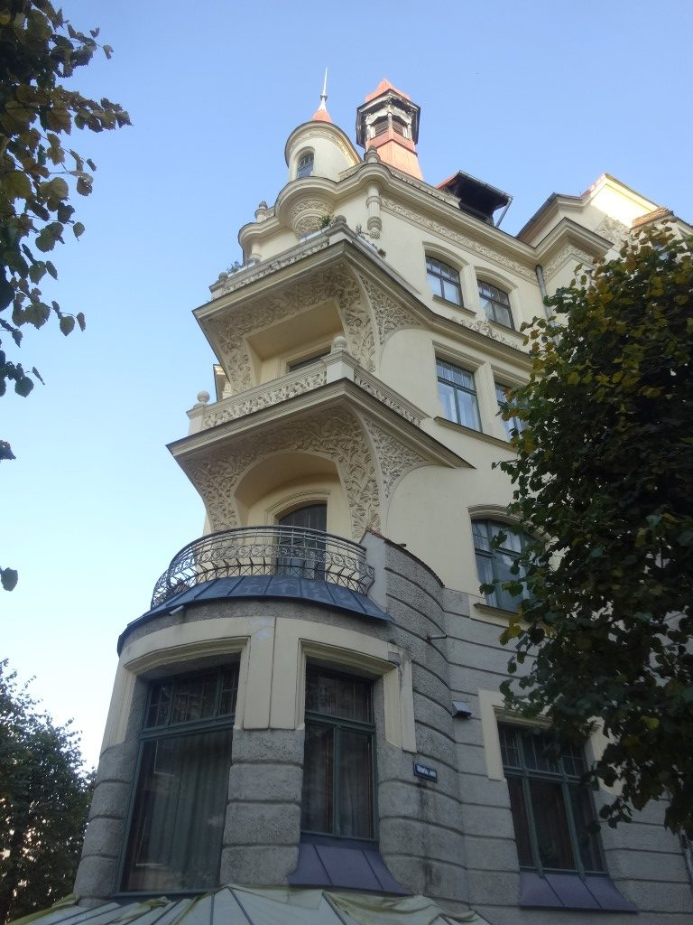 Un immeuble dans le quartier Art Nouveaux de Riga