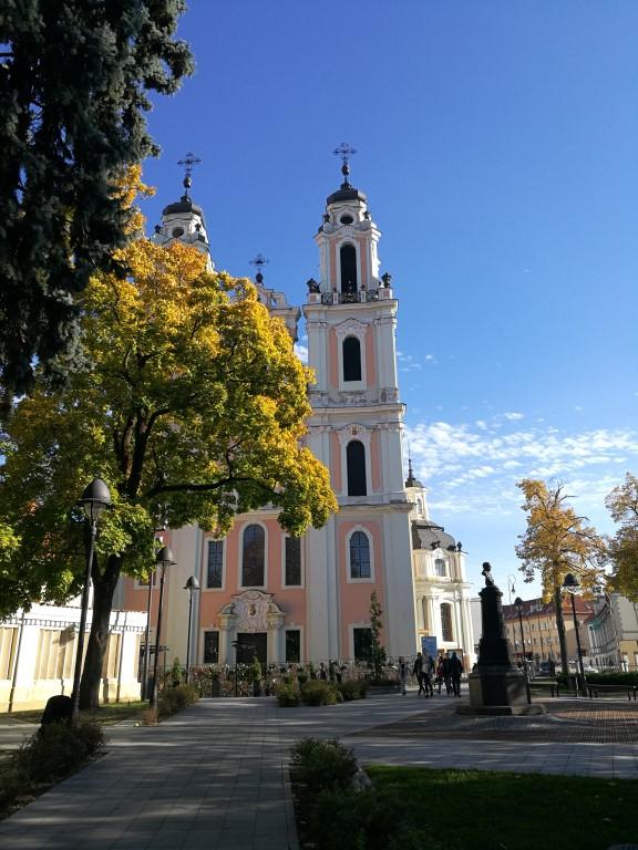 Une église dans un des quartiers de Vilnius