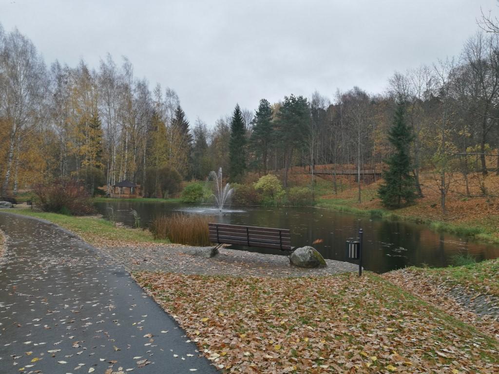 Le parc municipal de Smiltene