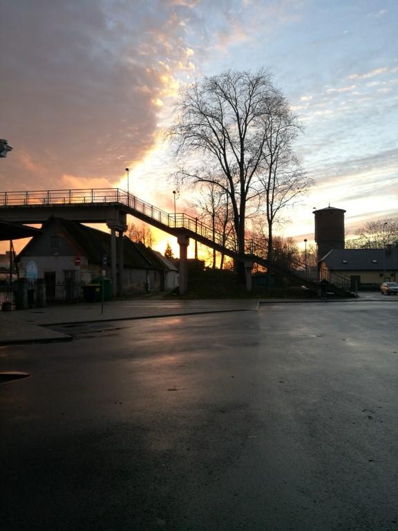 Le coucher de soleil à Valga