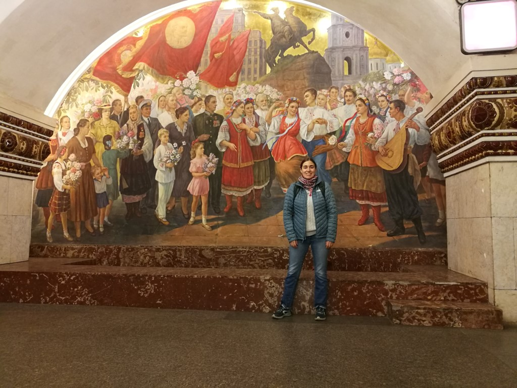 Dans le métro de Moscou