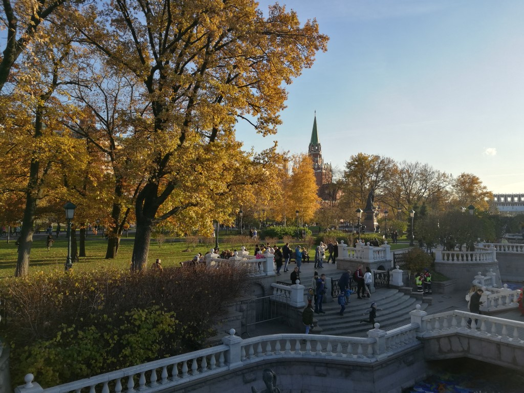 Le parc devant le Kremlin