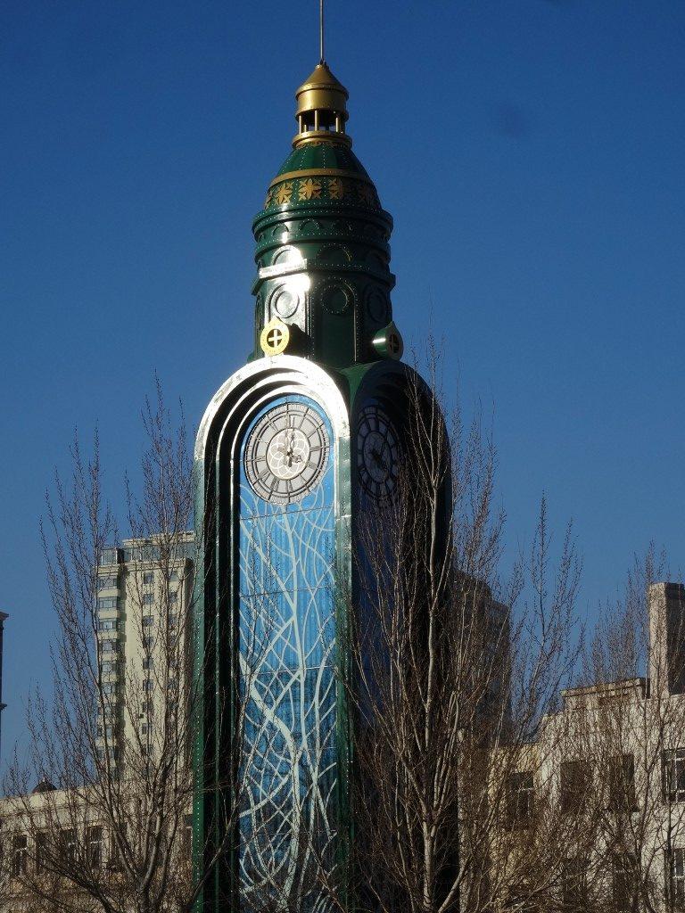 L'horloge de la ville d'Harbin