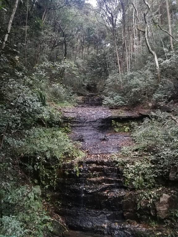 La rivière qui descent du haut de la montagne