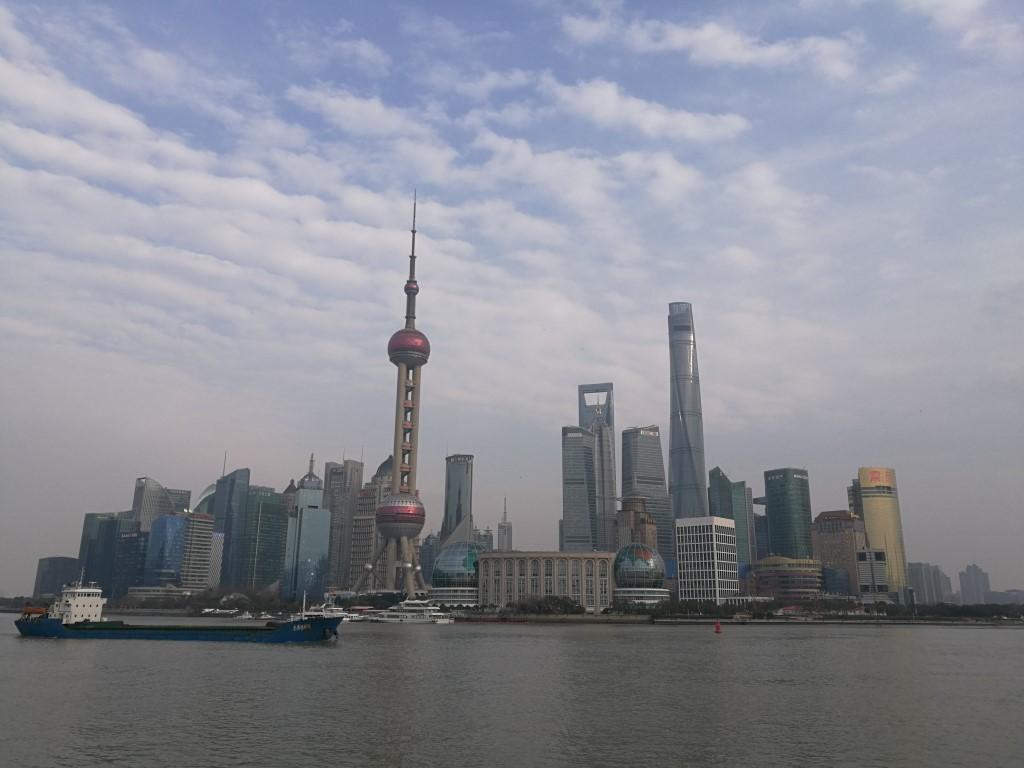 Le quarter des affaires de Pudong, vu depuis le bund