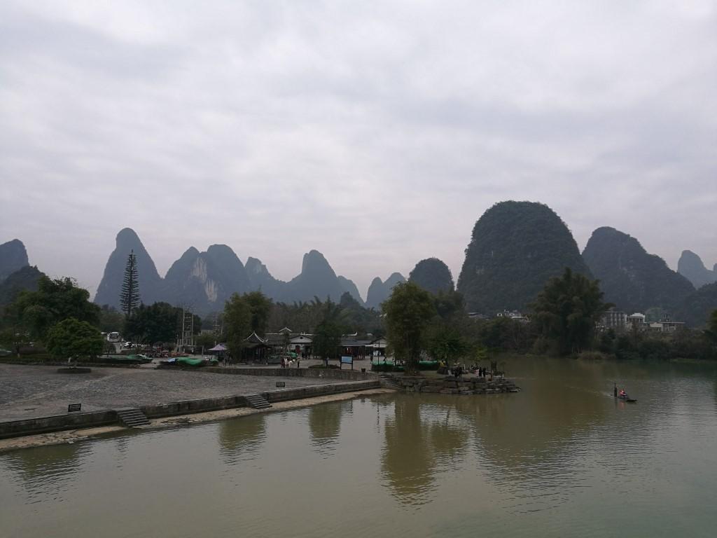La rivière Li et les rafts de bambous